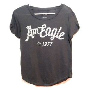 Grey American Eagle tee with sequin embellishments